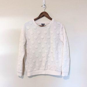 Chelsea 28 White Polka Dot Sweatshirt S